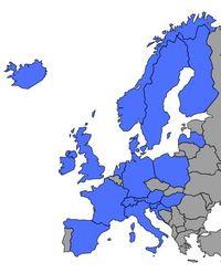 Carte Europe EVTA