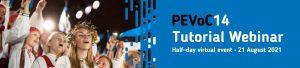 Webinaire scientifique - PEVoC14 Tutorial Webinar